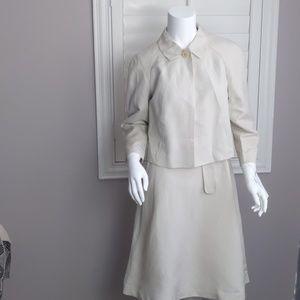 Calvin Klein Linen and Rayon Blazer and Dress set